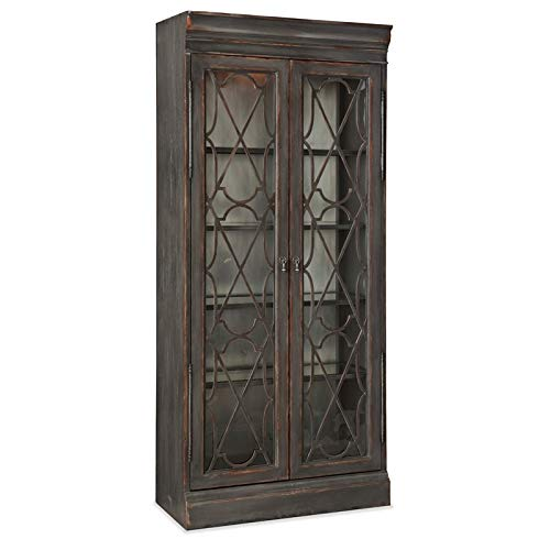 Hooker Furniture Arabella Bunching Display Cabinet In Charcoal 0 1