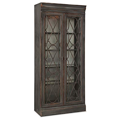 Hooker Furniture Arabella Bunching Display Cabinet In Charcoal 0