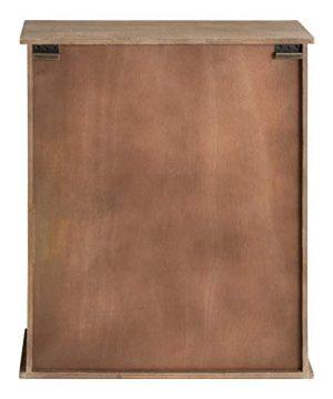 Kate And Laurel Barnhardt Wooden Wall Cabinet With Sliding Glass Door 22 X 28 Rustic Brown Barndoor Modern Farmhouse Storage 0 2 300x360