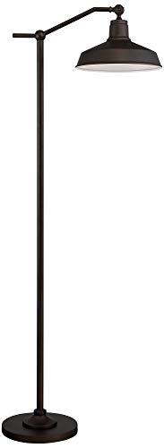 Kayne Modern Downbridge Floor Lamp Satin Bronze Metal Shade Step Switch For Living Room Reading Bedroom Office 360 Lighting 0 0