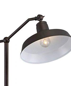 Kayne Modern Downbridge Floor Lamp Satin Bronze Metal Shade Step Switch For Living Room Reading Bedroom Office 360 Lighting 0 1 300x360