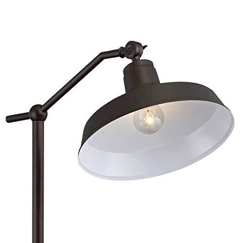 Kayne Modern Downbridge Floor Lamp Satin Bronze Metal Shade Step Switch For Living Room Reading Bedroom Office 360 Lighting 0 1