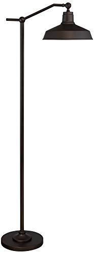 Kayne Modern Downbridge Floor Lamp Satin Bronze Metal Shade Step Switch For Living Room Reading Bedroom Office 360 Lighting 0 3