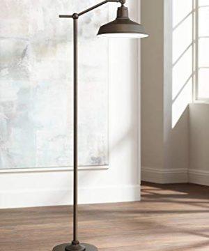 Kayne Modern Downbridge Floor Lamp Satin Bronze Metal Shade Step Switch For Living Room Reading Bedroom Office 360 Lighting 0 300x360