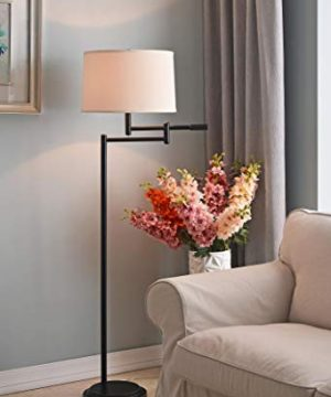 Kenroy Home Modern Swing Arm Floor Lamp 595 Inch Height With Black Copper Bronze Finish 0 0 300x360