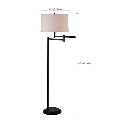 Kenroy Home Modern Swing Arm Floor Lamp 595 Inch Height With Black Copper Bronze Finish 0 1
