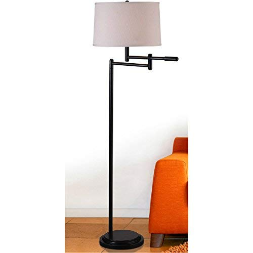 Kenroy Home Modern Swing Arm Floor Lamp 595 Inch Height With Black Copper Bronze Finish 0 2