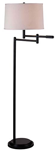 Kenroy Home Modern Swing Arm Floor Lamp 595 Inch Height With Black Copper Bronze Finish 0