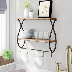 Lulie+Wood+and+Metal+Floating+Wall+Shelf