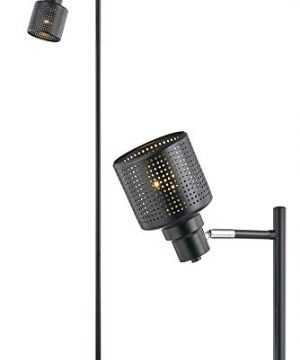 Modern Floor Lamp For Living Room Bright Lighting Tall Lamp Farmhouse Torchiere Rustic Industrial Floor Lamps For Bedrooms Office Reading Task Vintage Black Standing Lamp Pole Corner Floor Light 0 300x360