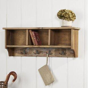Nagel+Natural+Wood+Wall+Mounted+Coat+Rack