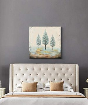 PiGort Oil Painting Wall Art Dusk Trees Art Hand Painted Landscape Scenery Paintings On Canvas Modern Home Decor Artwork Gallery Wrap 28x28 InchC 0 1 300x360