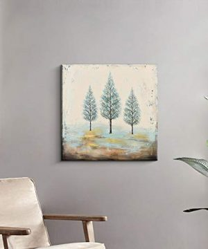 PiGort Oil Painting Wall Art Dusk Trees Art Hand Painted Landscape Scenery Paintings On Canvas Modern Home Decor Artwork Gallery Wrap 28x28 InchC 0 2 300x360