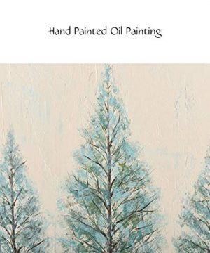 PiGort Oil Painting Wall Art Dusk Trees Art Hand Painted Landscape Scenery Paintings On Canvas Modern Home Decor Artwork Gallery Wrap 28x28 InchC 0 3 300x360