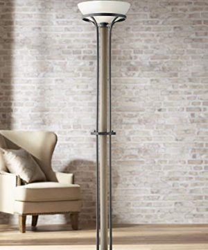 Sentry Rustic Farmhouse Wood Torchiere Floor Lamp Franklin Iron Works 0 300x360