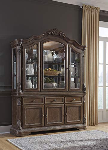 Signature Design By Ashley Charmond Dining Room China Brown 0 1