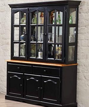 Sunset Trading Black Cherry Selections Buffet And Hutch Three Door Two Drawer Distressed Antique 0 0 300x360