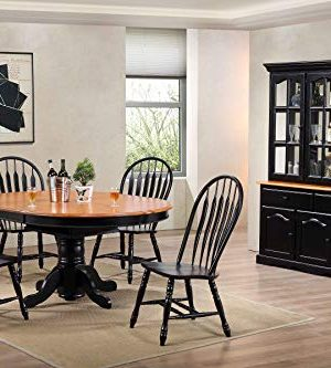 Sunset Trading Black Cherry Selections Buffet And Hutch Three Door Two Drawer Distressed Antique 0 4 300x333