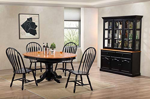 Sunset Trading Black Cherry Selections Buffet And Hutch Three Door Two Drawer Distressed Antique 0 4