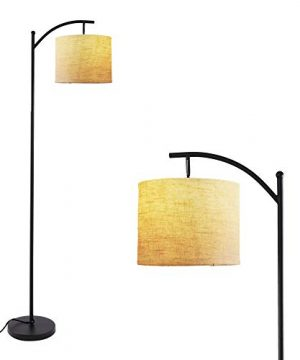 Twinkle Star Bedroom Arc Floor Lamp Living Room Office Standing Reading Light With Hanging Shade Foot Pedal Push Switch And Tall Pole For Mid Century Modern Farmhouse With Energy Saving LED Bulb 0 300x360