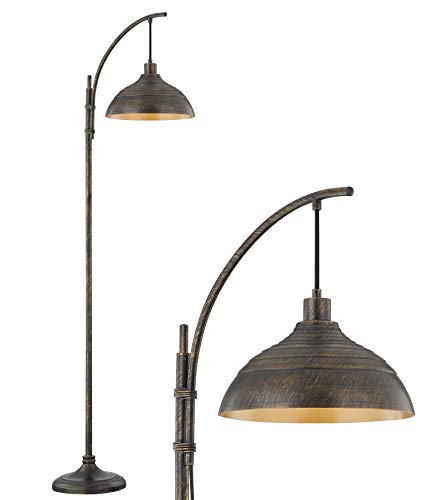 WOXXX Industrial Floor Lamp Modern Rustic Task Floor Lamp In Aged Bronze Finish Standing Lamp Farmhouse Arc Floor Lamps For Living Room Bedrooms Office Vintage Arched Bright Tall Reading Lamp 0