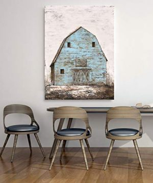 Yihui Arts Modern Abstract Farmhouse Wall Art Hand Painted Teal Color Painting Pictures For Living Room Decoration 0 1 300x360