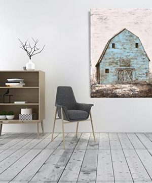 Yihui Arts Modern Abstract Farmhouse Wall Art Hand Painted Teal Color Painting Pictures For Living Room Decoration 0 2 300x360