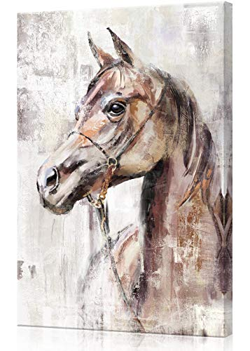 Watercolor Painting Horse Canvas Poster Home Bedroom kitchen Wall Room Decor