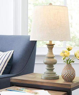 Amazon Brand Stone Beam Vintage Farmhouse Table Lamp 205H Distressed Gray 0 3 300x360