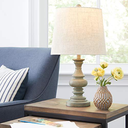 Amazon Brand Stone Beam Vintage Farmhouse Table Lamp 205H Distressed Gray 0 3