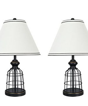 Aspen Creative 40140 02 22 High Traditional Metal Wire Table Lamp Matte Black 0 300x360