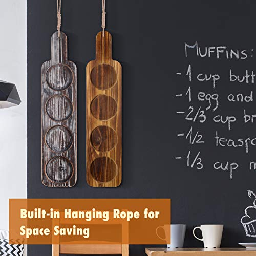 Beer Flight Paddle Tasting Serving Tray Craft Wooden Sampler Board With Bottle Opener Fits Most Of Mug Base For Beer Lovers Home Brewers Bars Rustic Torched Wood Paddle Only 0 4