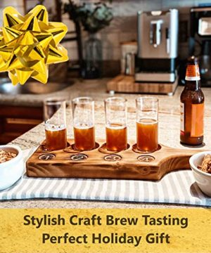 Beer Tasting Flight Paddle Set Of Two Rustic Pine Flamed Finish Beer Tasting Party Supplies Beer Wine Shot Paddle Board 0 0 300x360