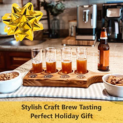 Beer Tasting Flight Paddle Set Of Two Rustic Pine Flamed Finish Beer Tasting Party Supplies Beer Wine Shot Paddle Board 0 0