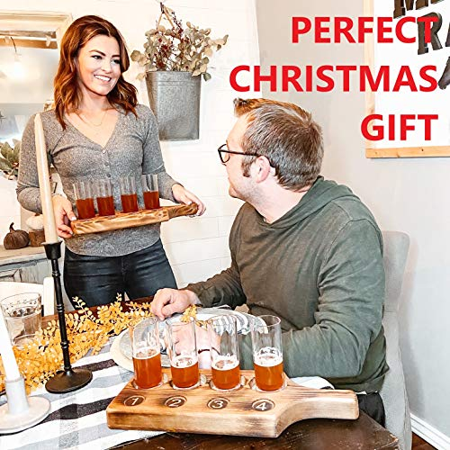 Beer Tasting Flight Paddle Set Of Two Rustic Pine Flamed Finish Beer Tasting Party Supplies Beer Wine Shot Paddle Board 0 2