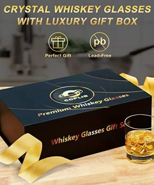 COPLIB Whiskey Glasses 11 OZ Rocks Glasses With Luxury BoxSet Of 63 Styles Crystal Old Fashioned Whiskey Glasses Perfect For Whiskey Lovers Durable Glasses For Scotch Bourbon Cocktail 0 0 300x360