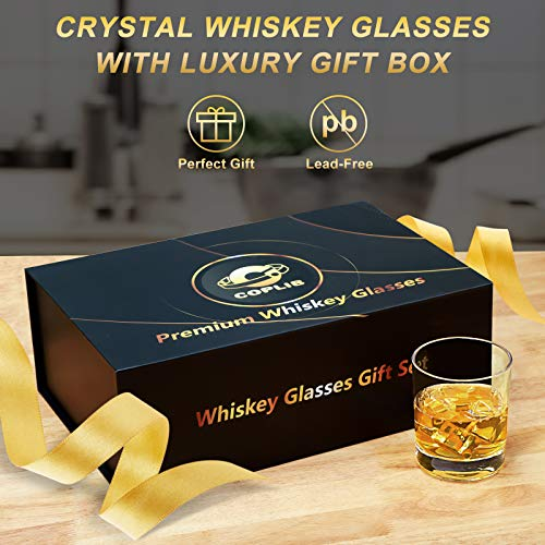 COPLIB Whiskey Glasses 11 OZ Rocks Glasses With Luxury BoxSet Of 63 Styles Crystal Old Fashioned Whiskey Glasses Perfect For Whiskey Lovers Durable Glasses For Scotch Bourbon Cocktail 0 0