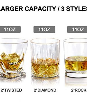 COPLIB Whiskey Glasses 11 OZ Rocks Glasses With Luxury BoxSet Of 63 Styles Crystal Old Fashioned Whiskey Glasses Perfect For Whiskey Lovers Durable Glasses For Scotch Bourbon Cocktail 0 1 300x360