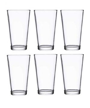 Classic Premium Beer Pint Glasses 16 Ounce Set Of 6 Highball Cocktail Mixing Glass Perfect For Cold Beverages Soda Water Used In Bar Restaurant Pub 0 1 300x360