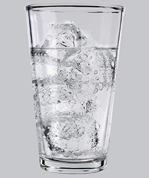 Clear Glass Beer Cups 4 Pack All Purpose Drinking Tumblers 16 Oz Elegant Design For Home And Kitchen Lead And BPA Free Great For Restaurants Bars Parties By Kitchen Lux 0 3 300x360