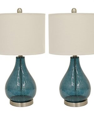 Decor Therapy MP1054 Table Lamp Emerald Blue Green 2 Count 0 300x360