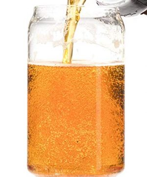 Ecodesign Drinkware Libbey Beer Glass Can Shaped 16 Oz Pint Beer Glasses 4 PACK Wcoasters 0 0 300x360