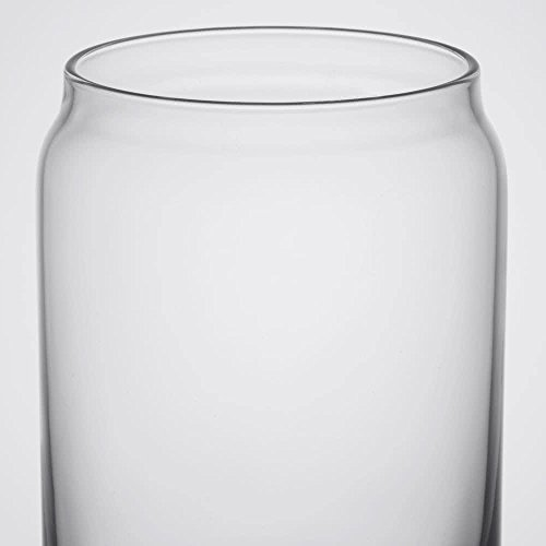 Ecodesign Drinkware Libbey Beer Glass Can Shaped 16 Oz Pint Beer Glasses 4 PACK Wcoasters 0 5