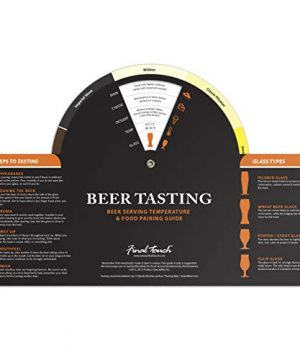 Final Touch Beer Tasting Paddle Set 4 Glasses Wood Paddle Tasting Guide GBT104 0 1 300x360