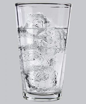 Glass Beer Cups Pack Of 12 Clear Glass Bar Tumblers 1 Pint 16oz Premium Quality Glass Cups Great For Restaurants Bars Parties Home And Kitchen By Kitchen Lux Pack Of 12 0 3 300x360