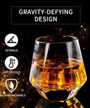 Glassware Whiskey Glasses Set 6Whiskey Tumbler For Bourbon Scotch Best As Old Fashioned Glasses 0 2 300x360