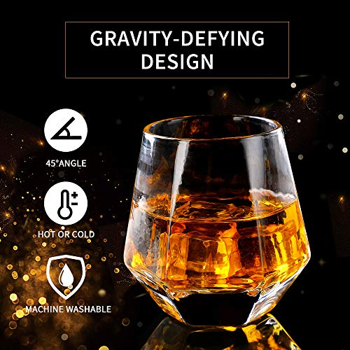 Glassware Whiskey Glasses Set 6Whiskey Tumbler For Bourbon Scotch Best As Old Fashioned Glasses 0 2