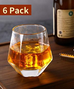 Glassware Whiskey Glasses Set 6Whiskey Tumbler For Bourbon Scotch Best As Old Fashioned Glasses 0 4 300x360