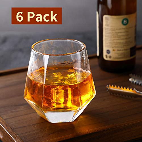 Glassware Whiskey Glasses Set 6Whiskey Tumbler For Bourbon Scotch Best As Old Fashioned Glasses 0 4