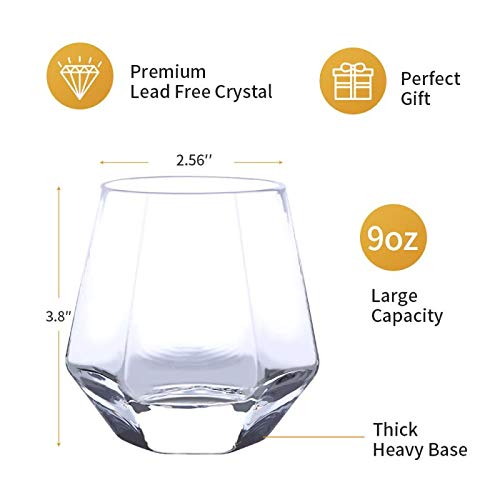 Glassware Whiskey Glasses Set 6Whiskey Tumbler For Bourbon Scotch Best As Old Fashioned Glasses 0 5